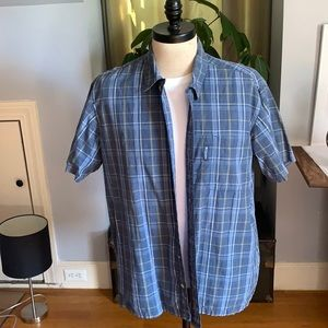 Blue plaid Colombia short sleeve.